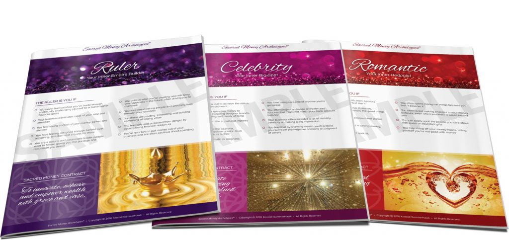 Sacred Money Archetype Pages